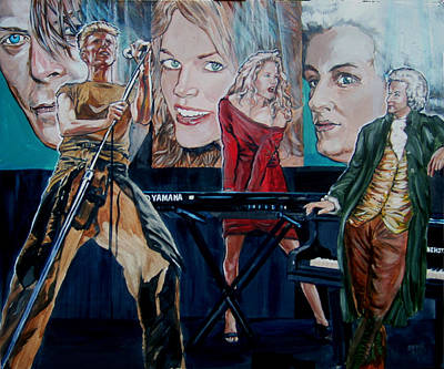 Christine Anderson Concert Fantasy Art Print by Bryan Bustard