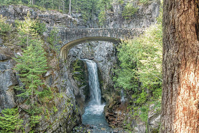 Photograph - Christine Falls At Mt Rainier by John M Bailey