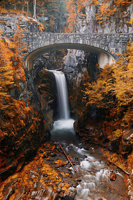 Photograph - Christine Falls - Digital Oil by Stephen Stookey