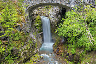 Photograph - Christine Falls In Mt Rainier National Park by David Gn