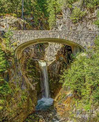 National Park Photograph - Christine Falls by Marv Vandehey