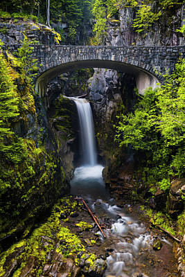 Photograph - Christine Falls - Mount Rainer National Park by Stephen Stookey