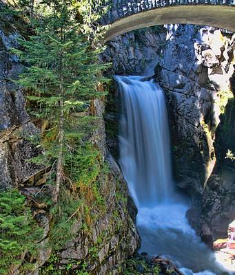 Photograph - Christine Falls Mount Rainier by Dan Sproul