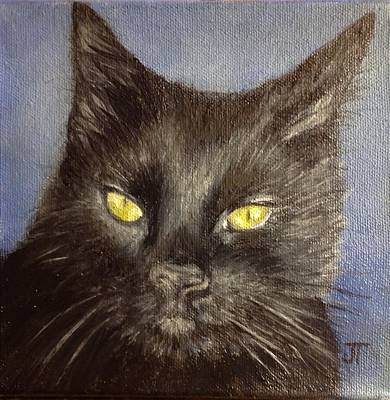 Painting - Christine's Cat by Jeannette Tramontano