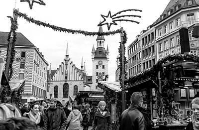 Photograph - Christkindl Walk In Munich by John Rizzuto