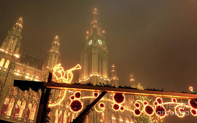 Photograph - Christkindlmarkt In Vienna by John Rizzuto