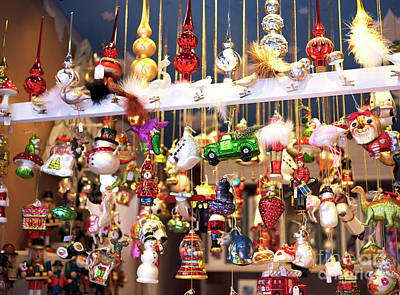 Photograph - Christkindlmarkt Ornaments Munich by John Rizzuto