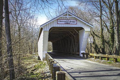 Music Royalty-Free and Rights-Managed Images - Christman  Covered Bridge  by Jack R Perry