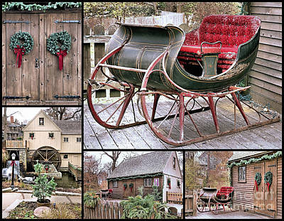 Photograph - Christmas 2015 Plimoth Grist Mill by Janice Drew