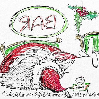 Drawing - Christmas Afternoon by John Stillmunks