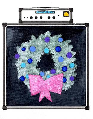 Painting - Christmas Amp by Joe Dagher