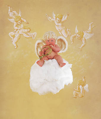 Cherub Photograph - Christmas Angel by Anne Geddes