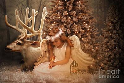 Fantasy Tree Mixed Media - Christmas Angel by Babette Van den Berg
