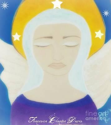 Christmas Angel Art Print by Sacred  Muse