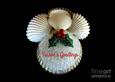 Photograph - Christmas Angel Greeting by Jean Wright