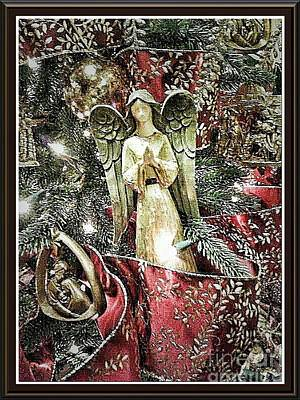 Photograph - Christmas Angel Greeting by Rachel Hannah