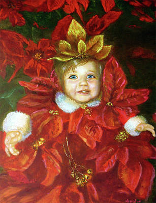 Painting - Christmas Angel by Jeanine Dahlquist