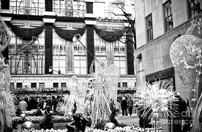 Photograph - Christmas Angels At Rockefeller Center by John Rizzuto