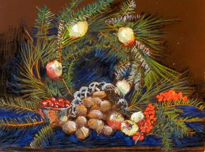 Pastel - Christmas Arrangement by Lenore Gaudet