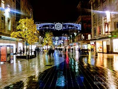 Photograph - Christmas At Church Street Liverpool by Joan-Violet Stretch