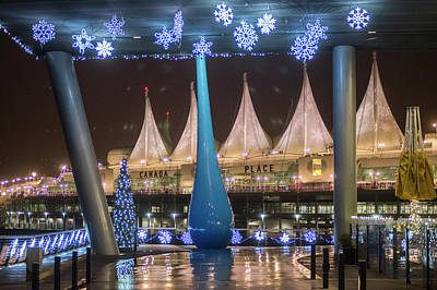 Photograph - Christmas At Canada Place by Ross G Strachan