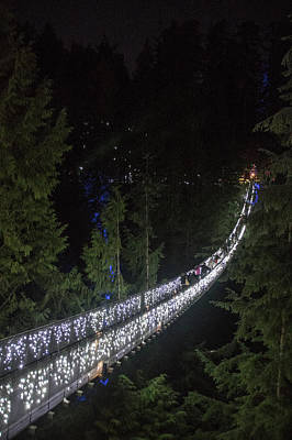Photograph - Christmas At Capilano Suspension Bridge by Ross G Strachan