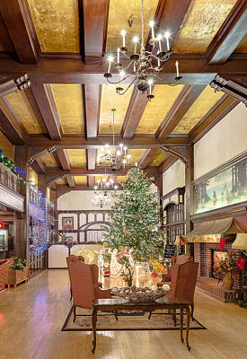 Photograph -  Christmas At Eureka Inn by Jon Exley