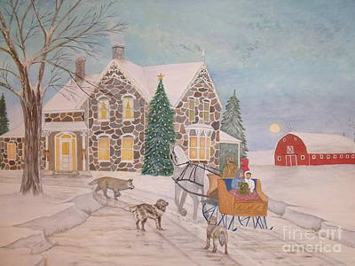 Painting - Christmas At Grandpa's by Patti Lennox