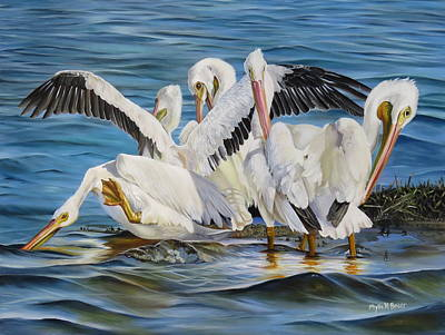 Waterfowl Painting - Christmas At Half Moon Island by Phyllis Beiser