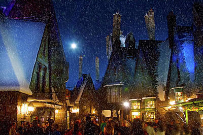 Christmas At Hogsmeade Blank Art Print
