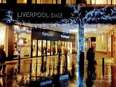 Photograph - Christmas At Liverpool One by Joan-Violet Stretch