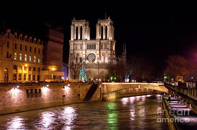 Photograph - Christmas At Notre Dame De Paris by John Rizzuto