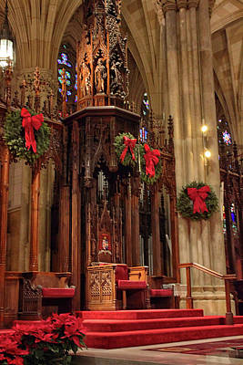 Photograph - Christmas At  St. Patrick's by Jessica Jenney
