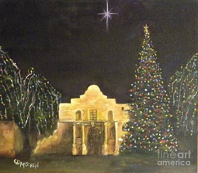 Painting - Christmas At The Alamo by Cheryl Damschen