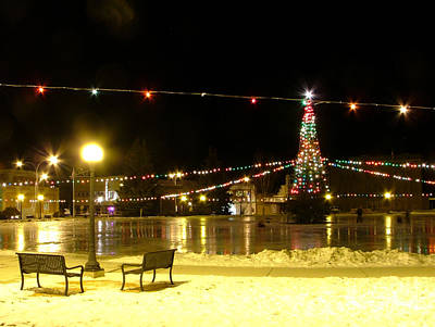 Photograph - Christmas At The Anaconda Commons by Katie LaSalle-Lowery