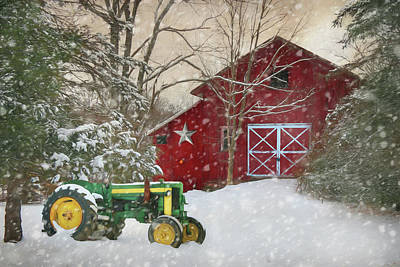 Photograph - Christmas At The Barn by Lori Deiter