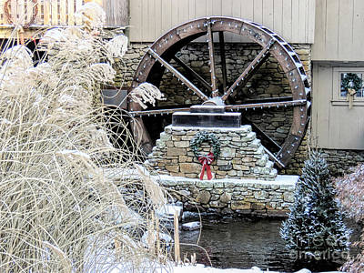 Photograph - Christmas At The Grist Mill by Janice Drew
