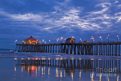 Huntington Beach California Photograph - Christmas At The Huntington Beach Pier by Susan Gary
