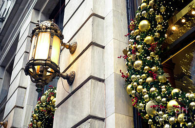 Photograph - Christmas At The Plaza Hotel by John Rizzuto
