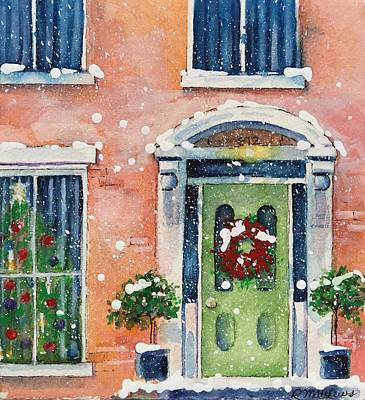 Painting - Christmas At The Rectory by Rebecca Matthews