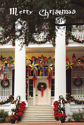 Christmas At The Texas Govenor's Mansion Original by Linda Phelps