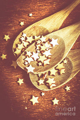 Stars Photograph - Christmas Baking Background by Jorgo Photography - Wall Art Gallery