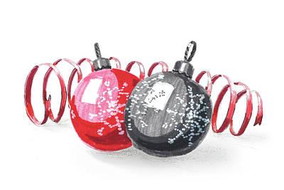 Painting - Christmas Balls by Masha Batkova