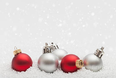 Photograph - Christmas Baubles by Diane Macdonald