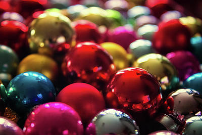 Element Photograph - Christmas Baubles by Martin Newman