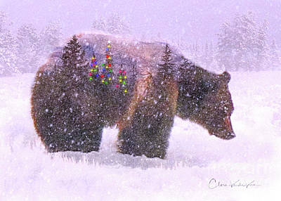 Photograph - Christmas Bear by Clare VanderVeen