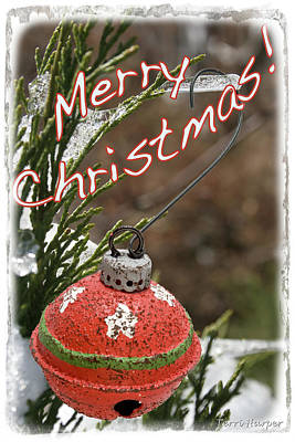 Photograph - Christmas Bell Ornament by Terri Harper