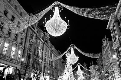 Photograph - Christmas Bells And Lights In Vienna by John Rizzuto