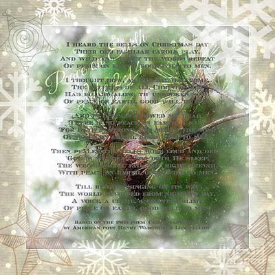 Christmas Bells Art Print by Anita Faye