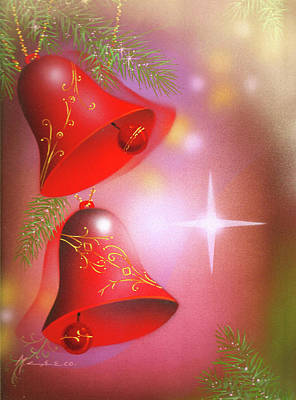 Painting - Christmas Bells by Laura Greco
